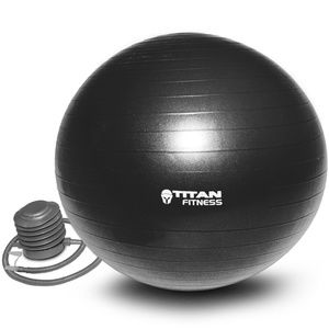 Titan Fitness Exercise Stability Ball Black 65cm